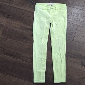 Hollister Neon Yellow Skinny Jeans Size 5R